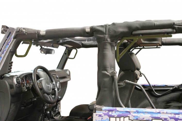 Steinjager J0044766 Grab Handle Kit Wrangler JK 2007-2018 Rigid Design Front and Rear for 2 Door JK Locas Green