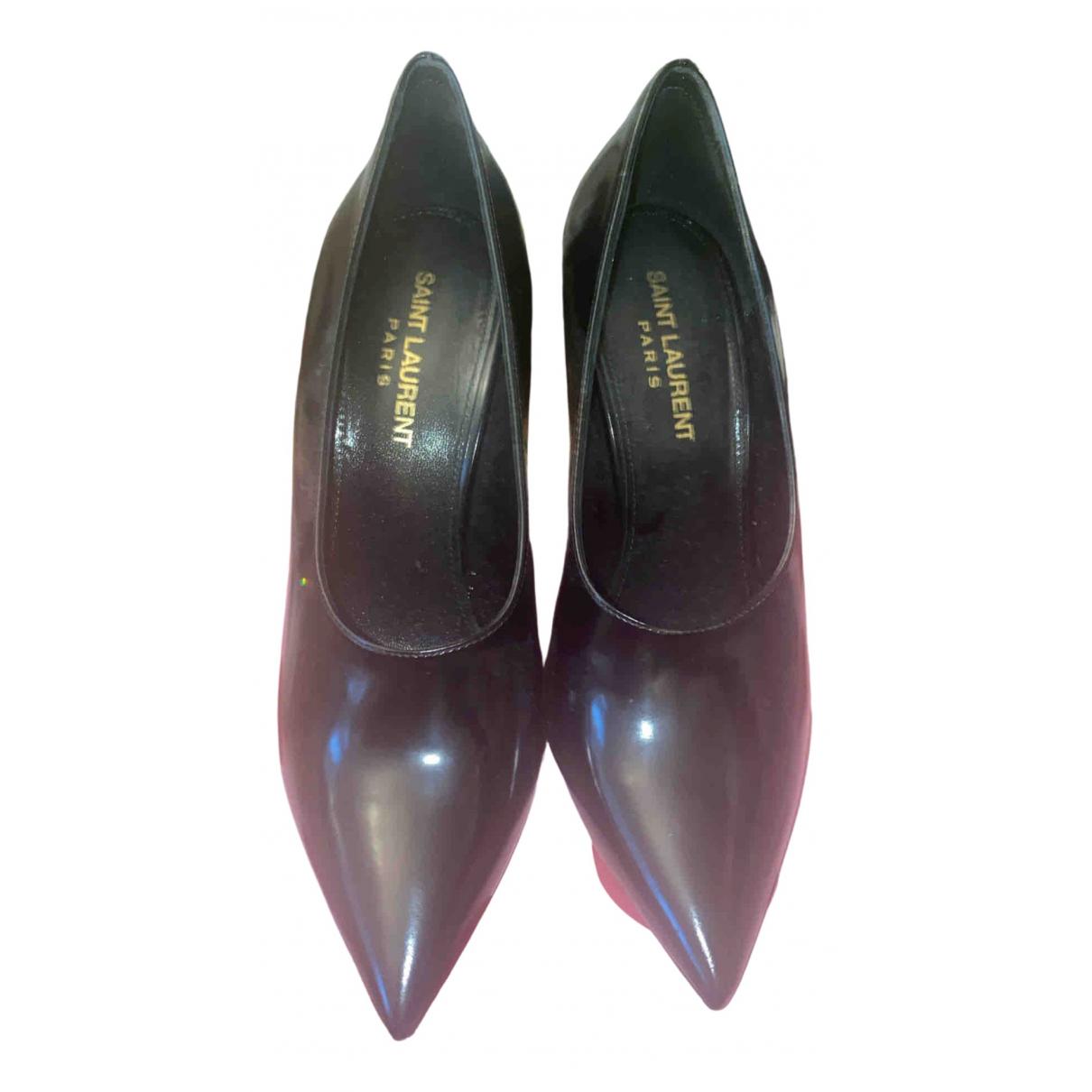 Saint Laurent \N Black Patent leather Heels for Women 37 EU