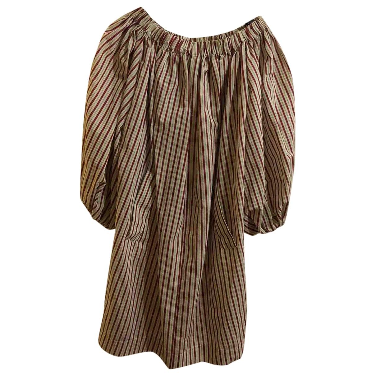 Avn \N Kleid in  Bordeauxrot Baumwolle