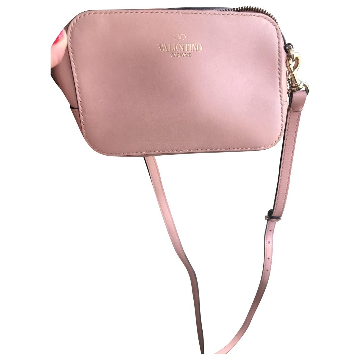 Valentino Garavani \N Pink Leather Clutch bag for Women \N