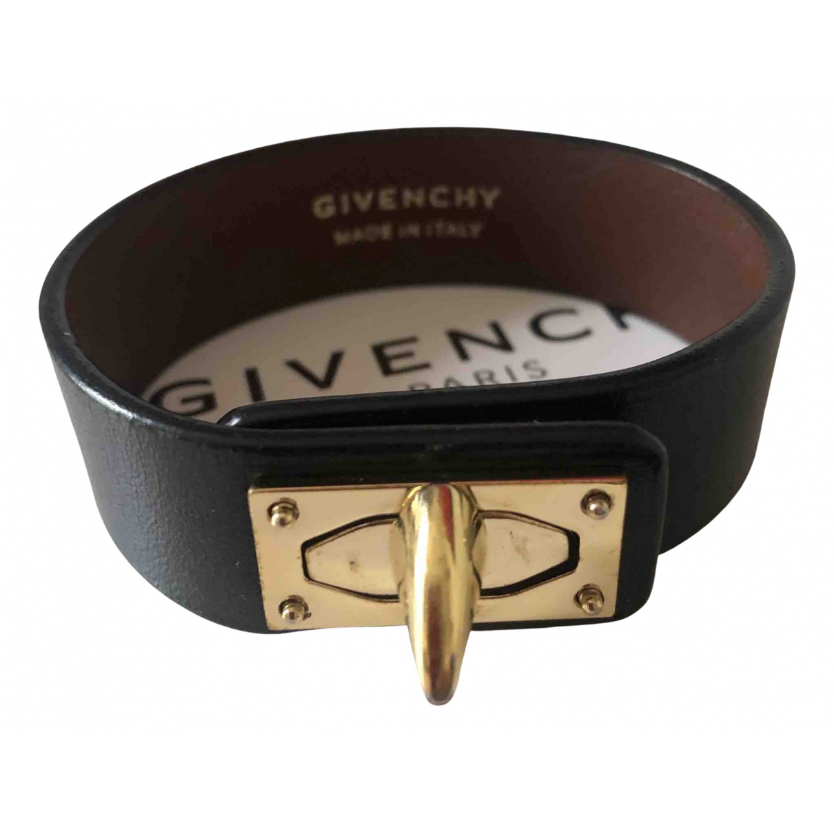 Givenchy Shark Black Leather bracelet for Women N