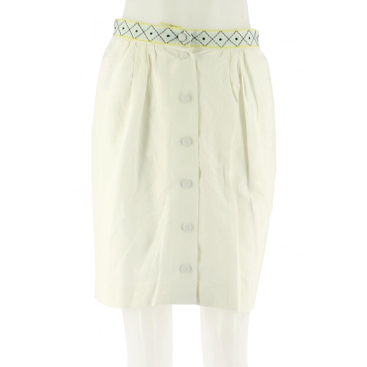 Comptoir Des Cotonniers - Jupe   pour femme en soie - blanc
