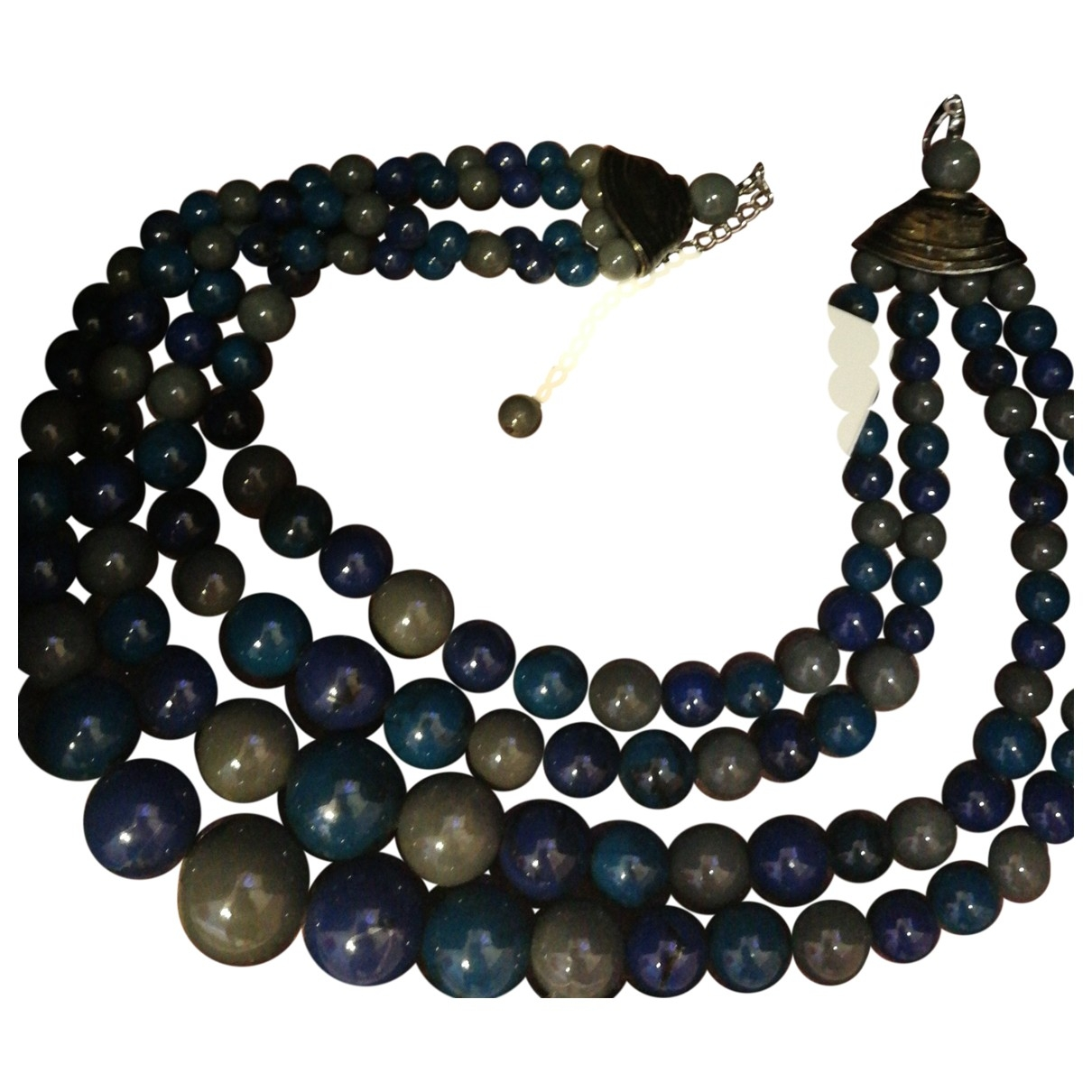 Non Signé / Unsigned \N Blue Pearls necklace for Women \N