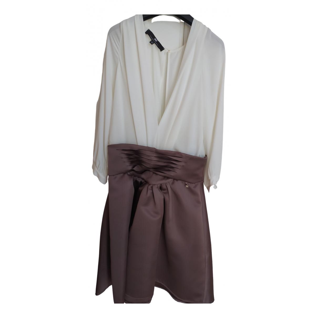 Elisabetta Franchi \N Kleid in  Grau Polyester