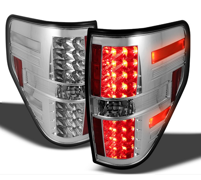 Spyder LED Chrome Tail Lights Ford F150 Styleside 09-10