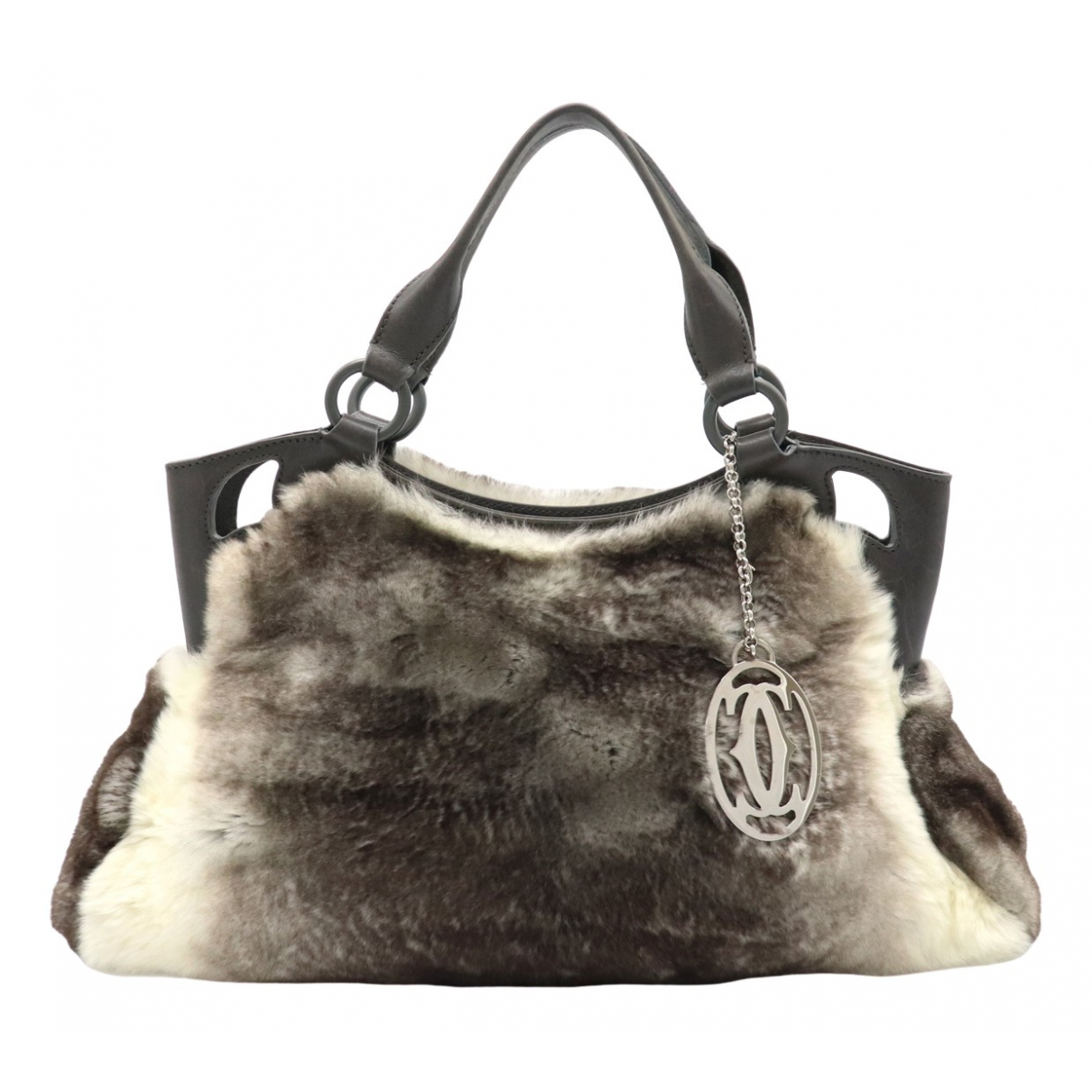 Cartier Marcello Brown Fur handbag for Women \N