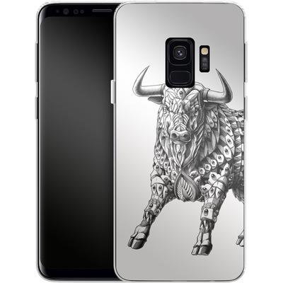 Samsung Galaxy S9 Silikon Handyhuelle - Raging Bull von BIOWORKZ