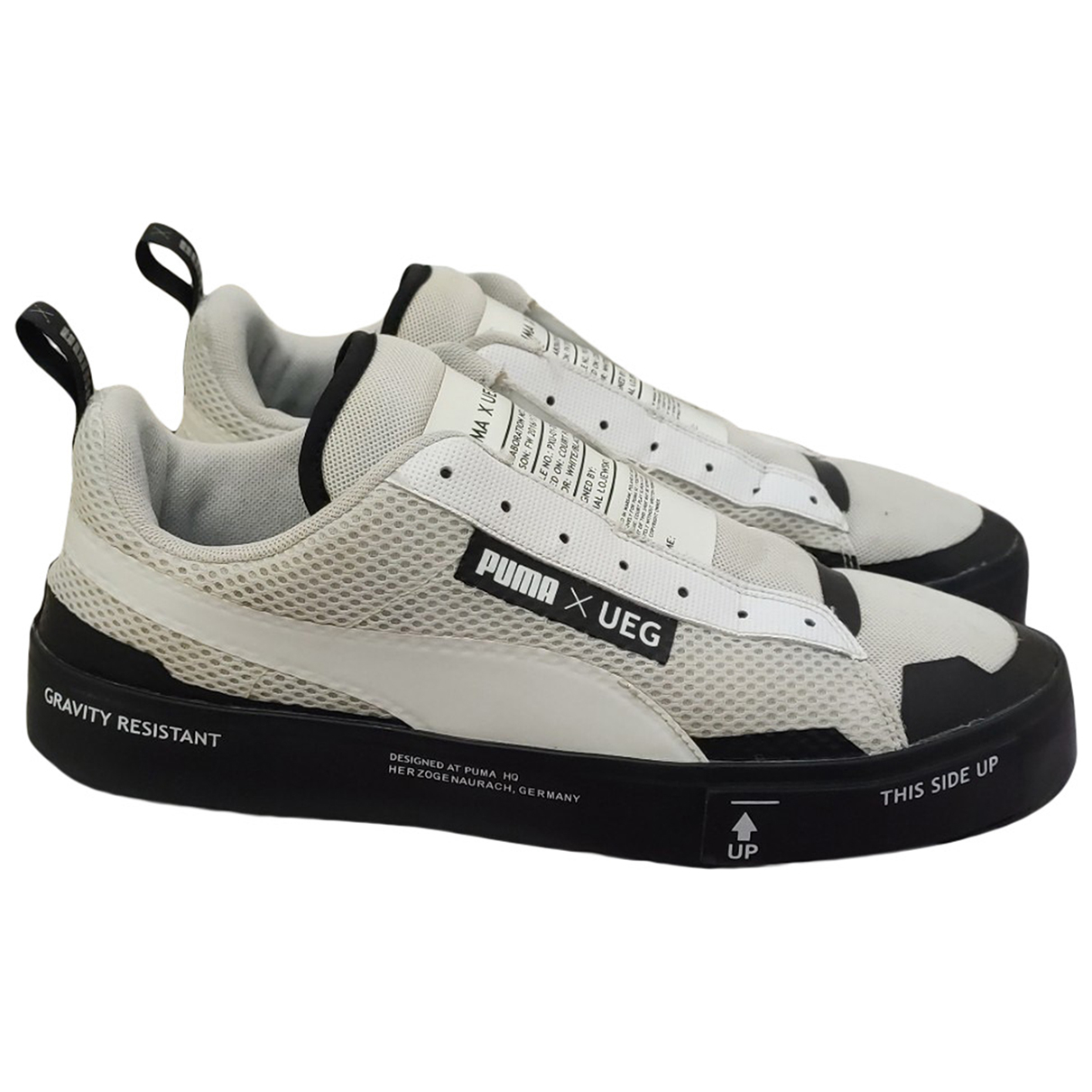 Puma \N Sneakers in  Weiss Leinen