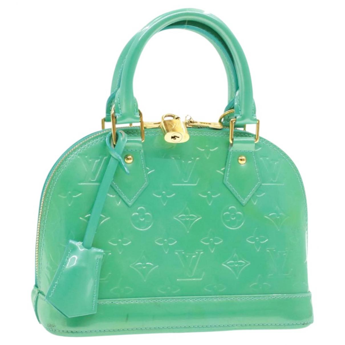 Louis Vuitton Alma BB Turquoise Cloth handbag for Women \N
