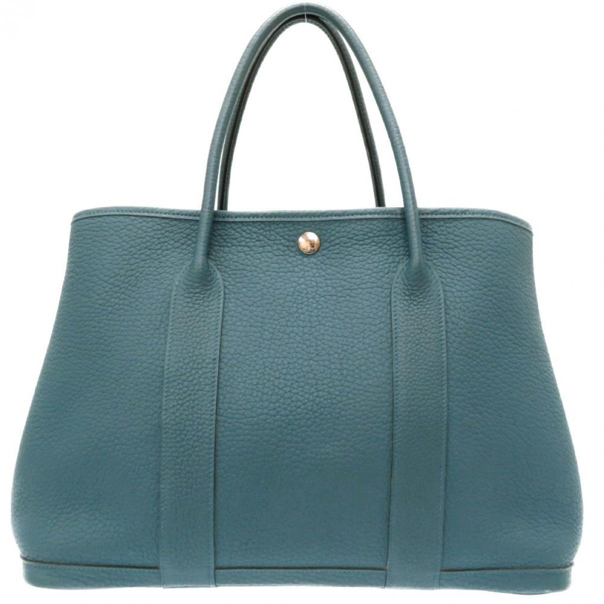Hermès Garden Party Blue Leather handbag for Women \N