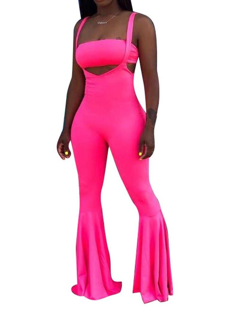 Ericdress Suspenders Plain Bellbottoms Women's Suit Vest And Pants Two Piece Sets