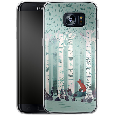 Samsung Galaxy S7 Edge Silikon Handyhuelle - Birches von Little Clyde