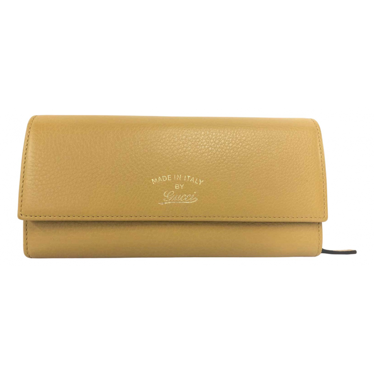Gucci \N Yellow Leather wallet for Women \N