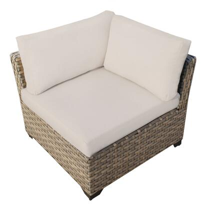 TKC015b-CS-BEIGE Monterey Corner Sofa with 2 Covers: Beige and
