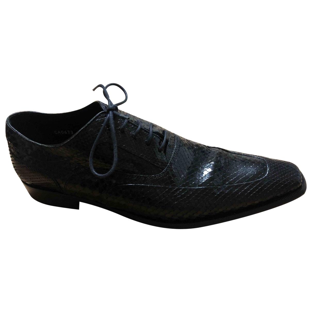 Dolce & Gabbana - Derbies   pour homme en python - noir