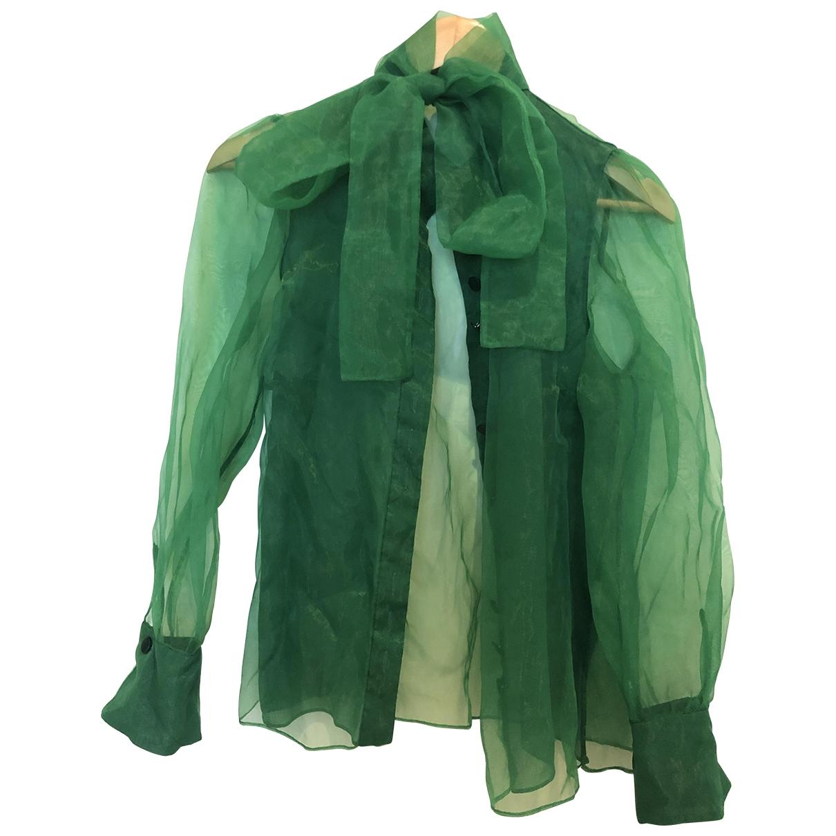 Zara \N Top in  Gruen Polyester