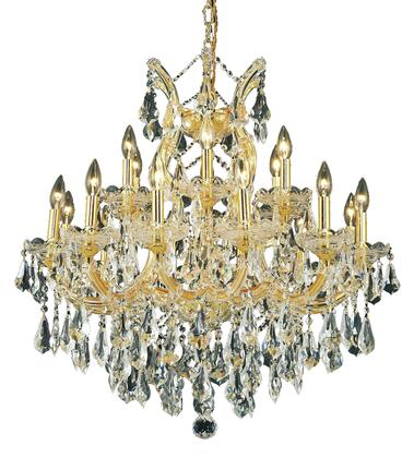 2801D30G/SS 2801 Maria Theresa Collection Hanging Fixture D30in H28in Lt: 18+1 Gold Finish (Swarovski Strass/Elements