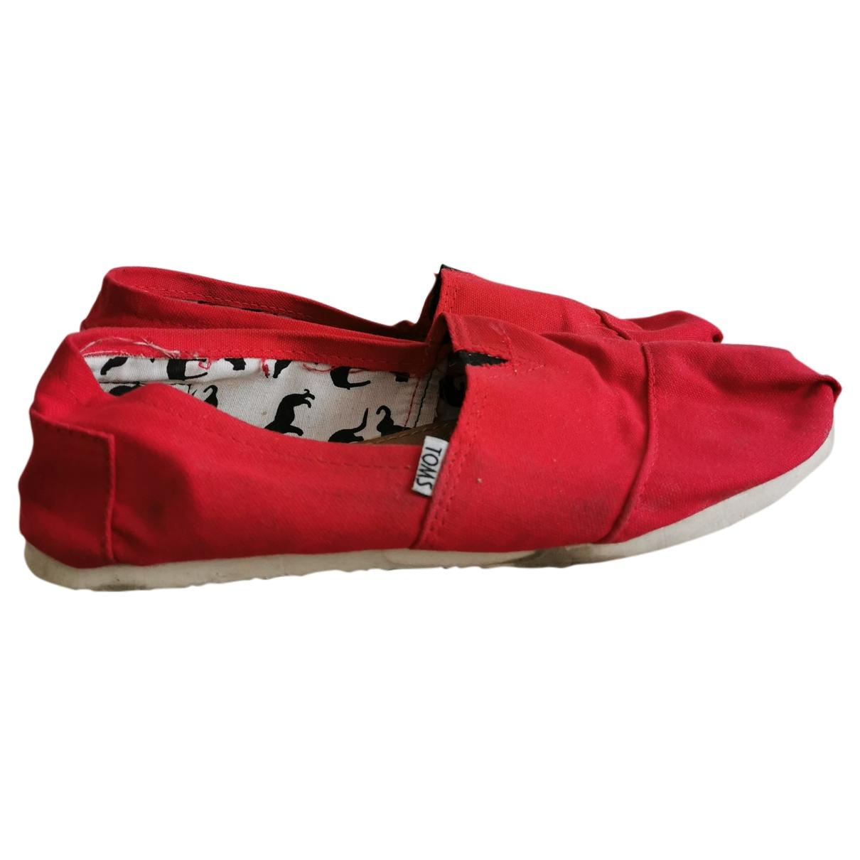 Toms - Espadrilles   pour femme en toile - rouge