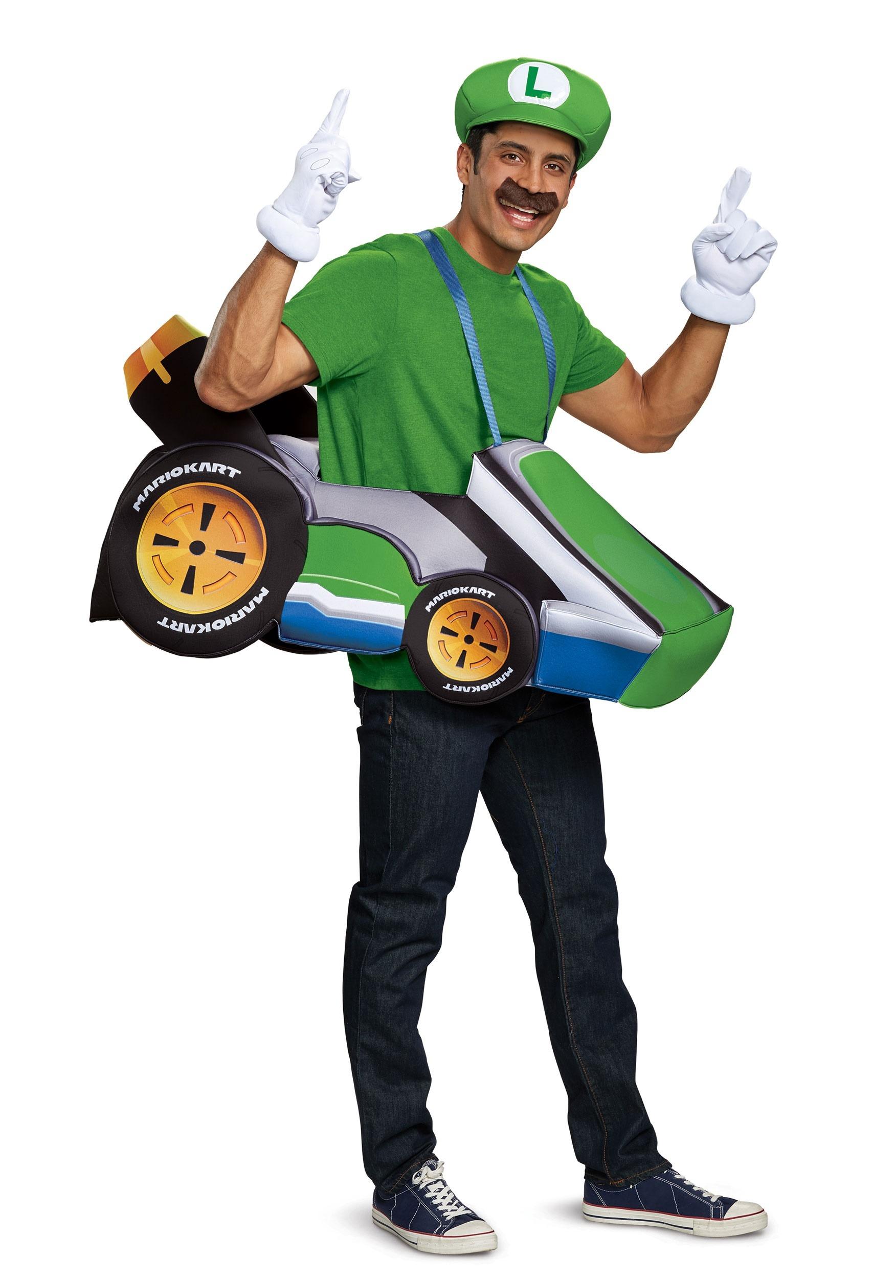 Super Mario Kart: Luigi Ride In Costume