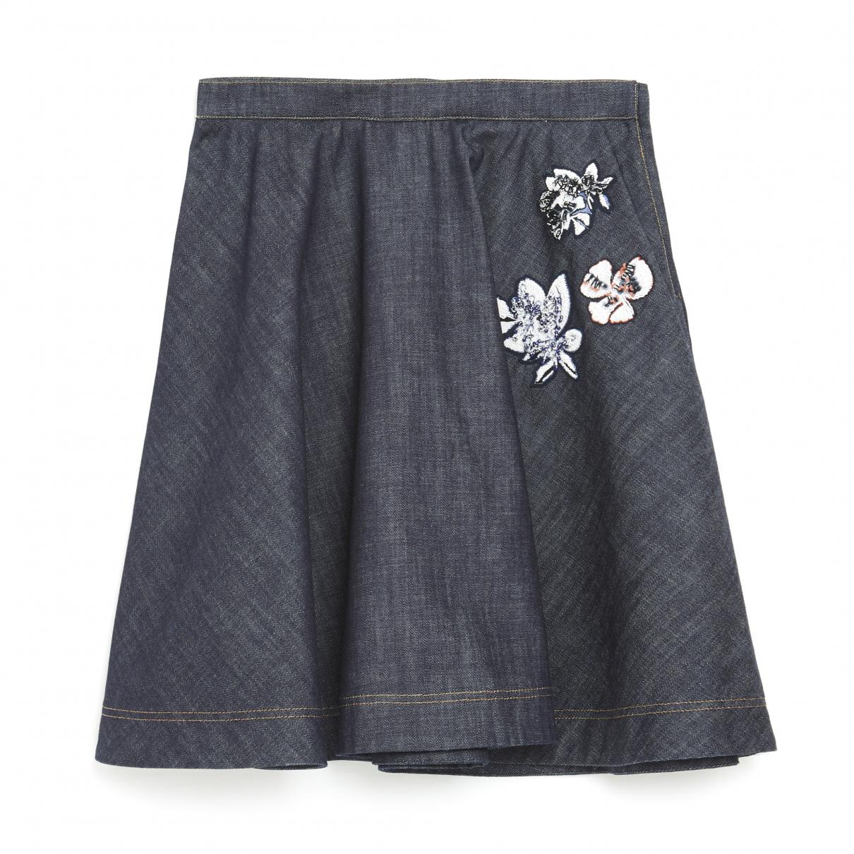 Dior \N Blue Denim - Jeans skirt for Women 40 FR