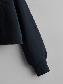 Pocket Front Colorblock Sweatshirt