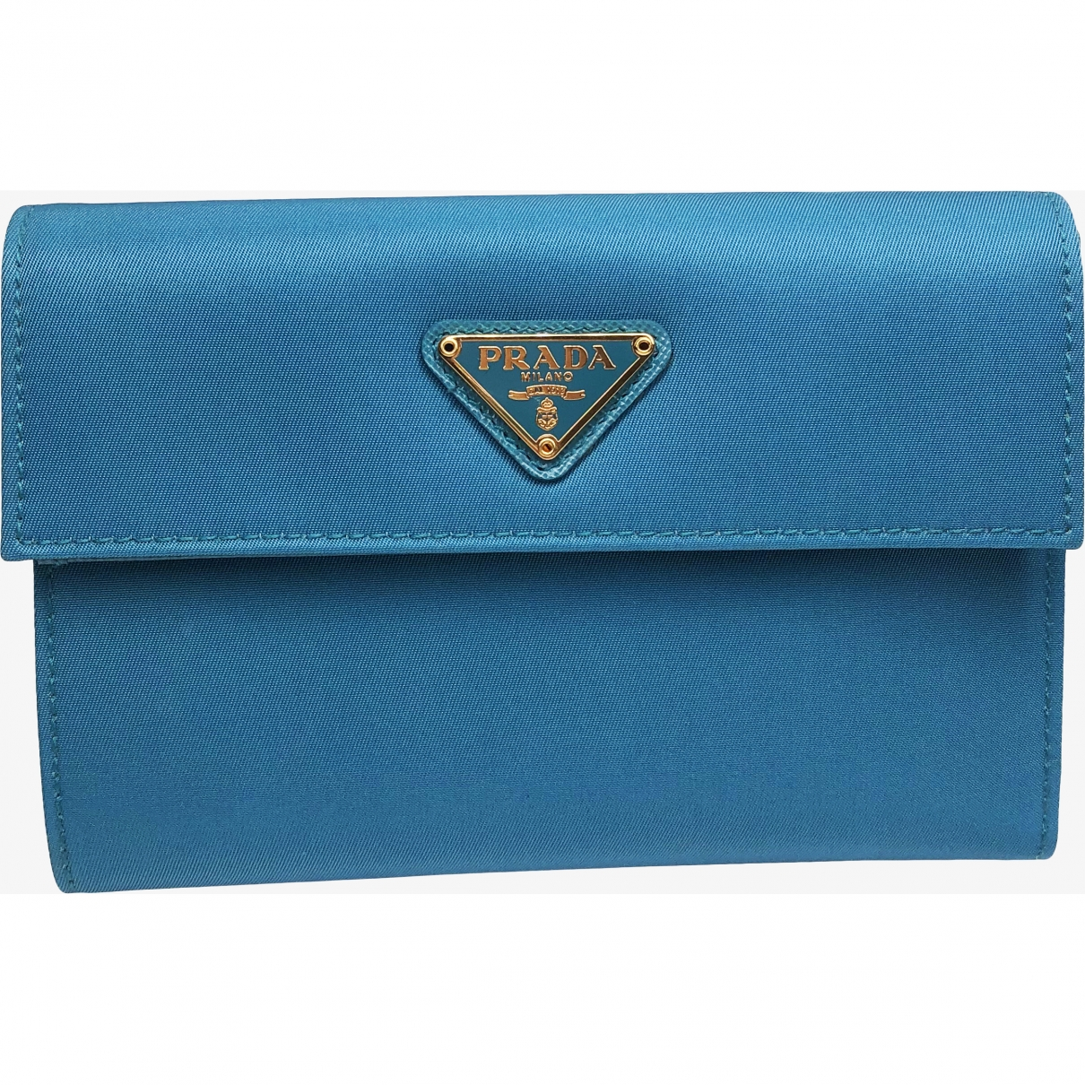 Prada \N Blue Cloth wallet for Women \N