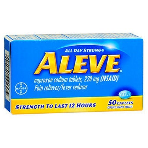 Aleve All Day Strong Pain Reliever And Fever Reducer 50 caplets by Aleve