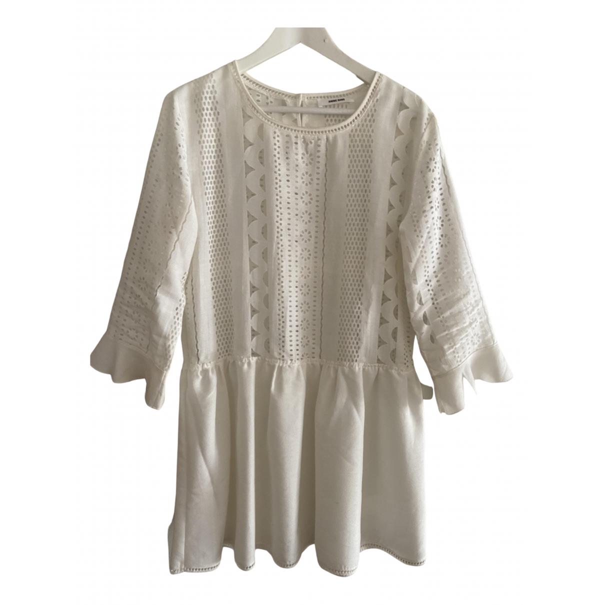 Anine Bing \N Kleid in  Weiss Baumwolle
