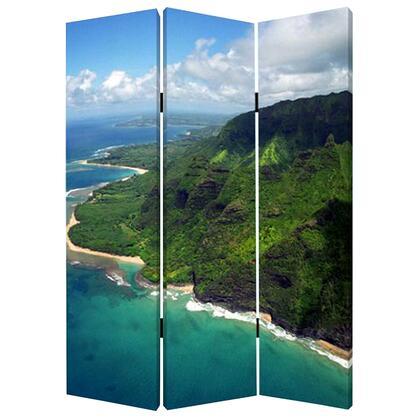 277088 1 x 48 x 72 Multi-Color  Wood  Canvas  Palm/Tripical -