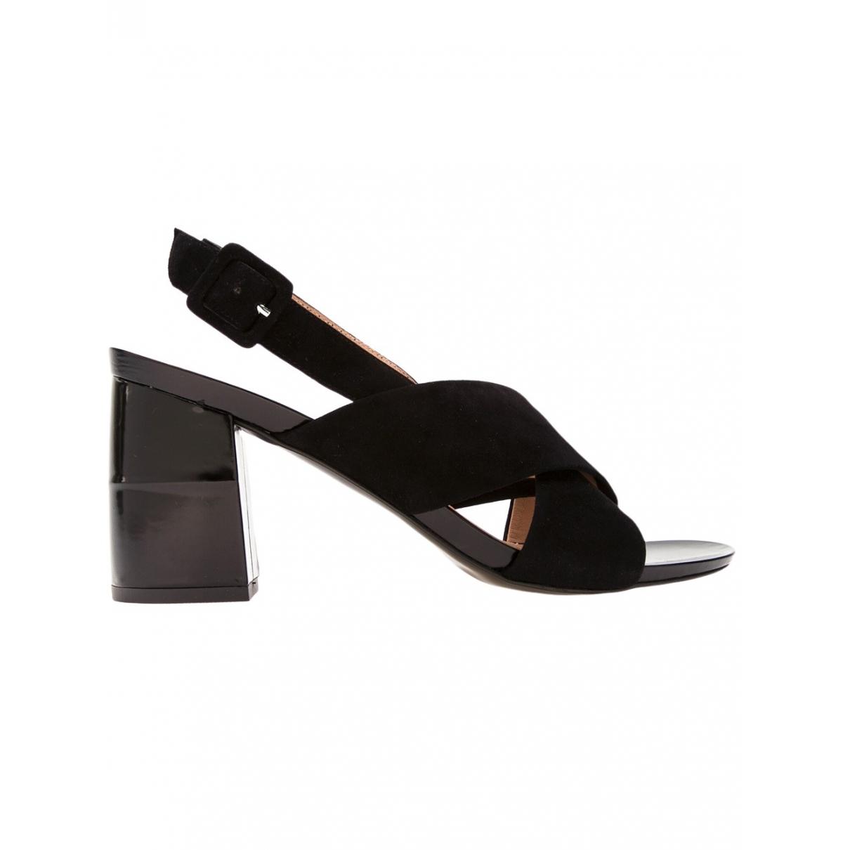 Robert Clergerie \N Black Suede Sandals for Women 37.5 EU