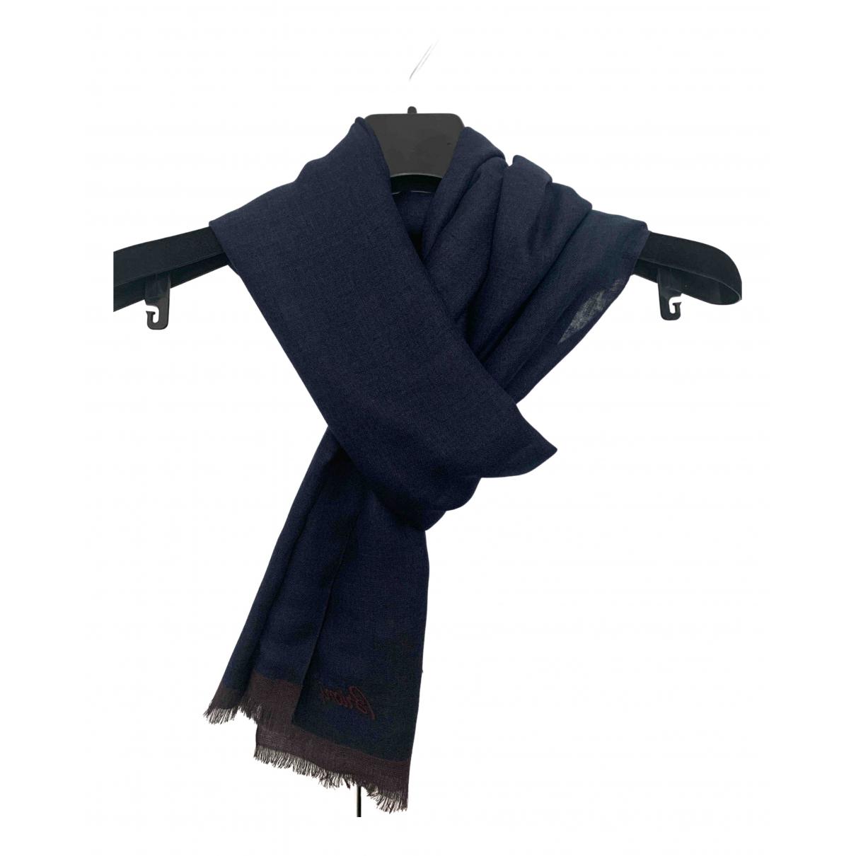 Brioni \N Blue Cashmere scarf & pocket squares for Men \N
