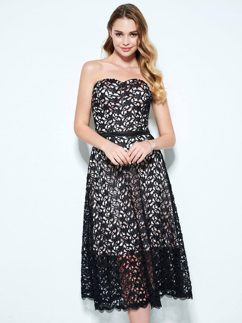 Ericdress A-Line Sweetheart Lace Tea-Length Homecoming Dress
