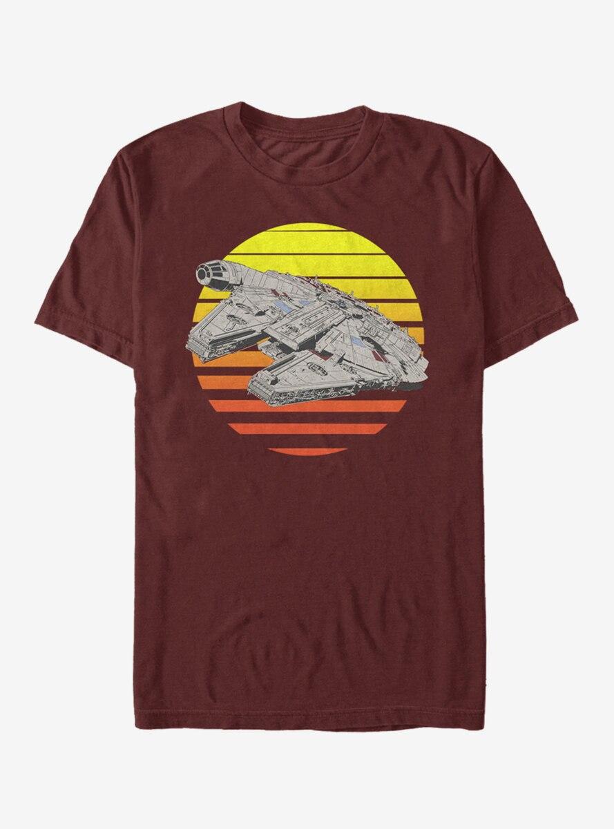 Star Wars Millennium Falcon Sunset T-Shirt
