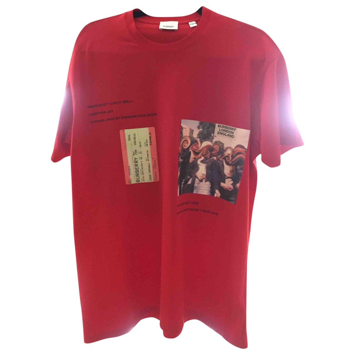Burberry \N T-Shirts in  Rot Baumwolle