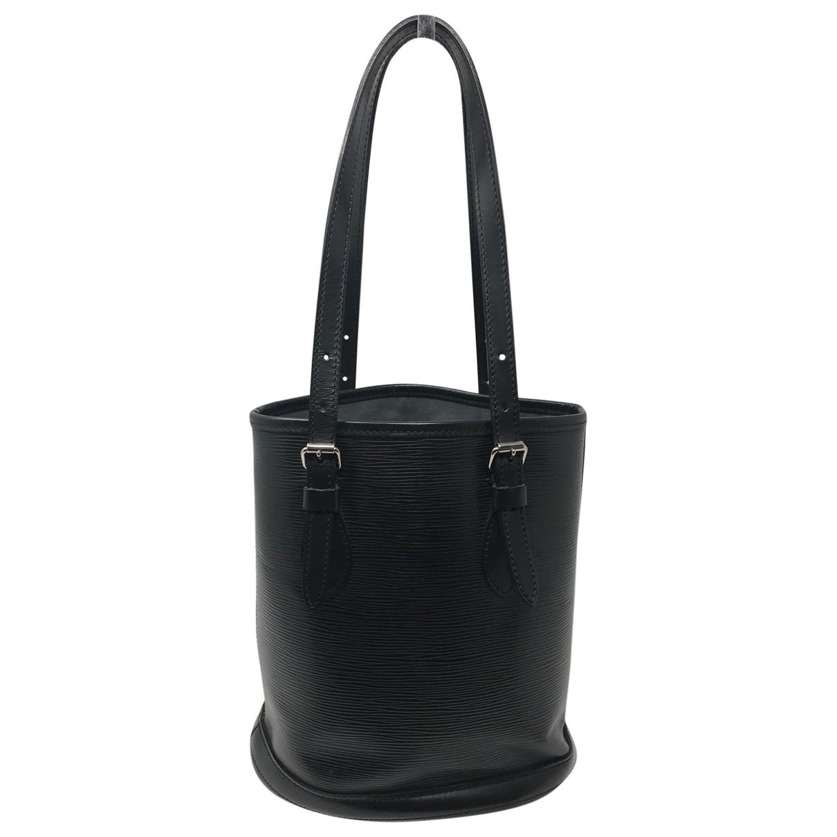 Louis Vuitton Bucket  Handtasche in  Schwarz Leder