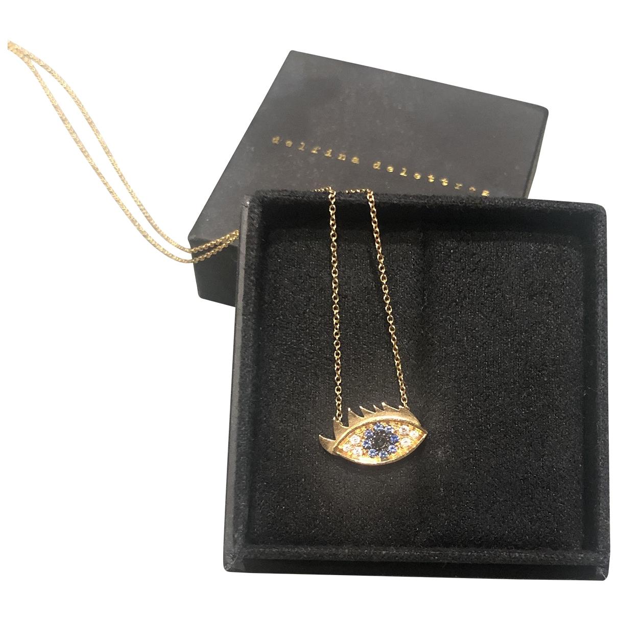 Collar Anatomik de Oro amarillo Delfina Delettrez