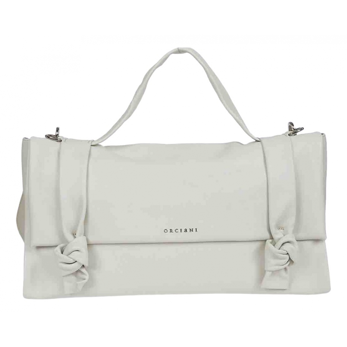 Orciani \N White Leather handbag for Women \N