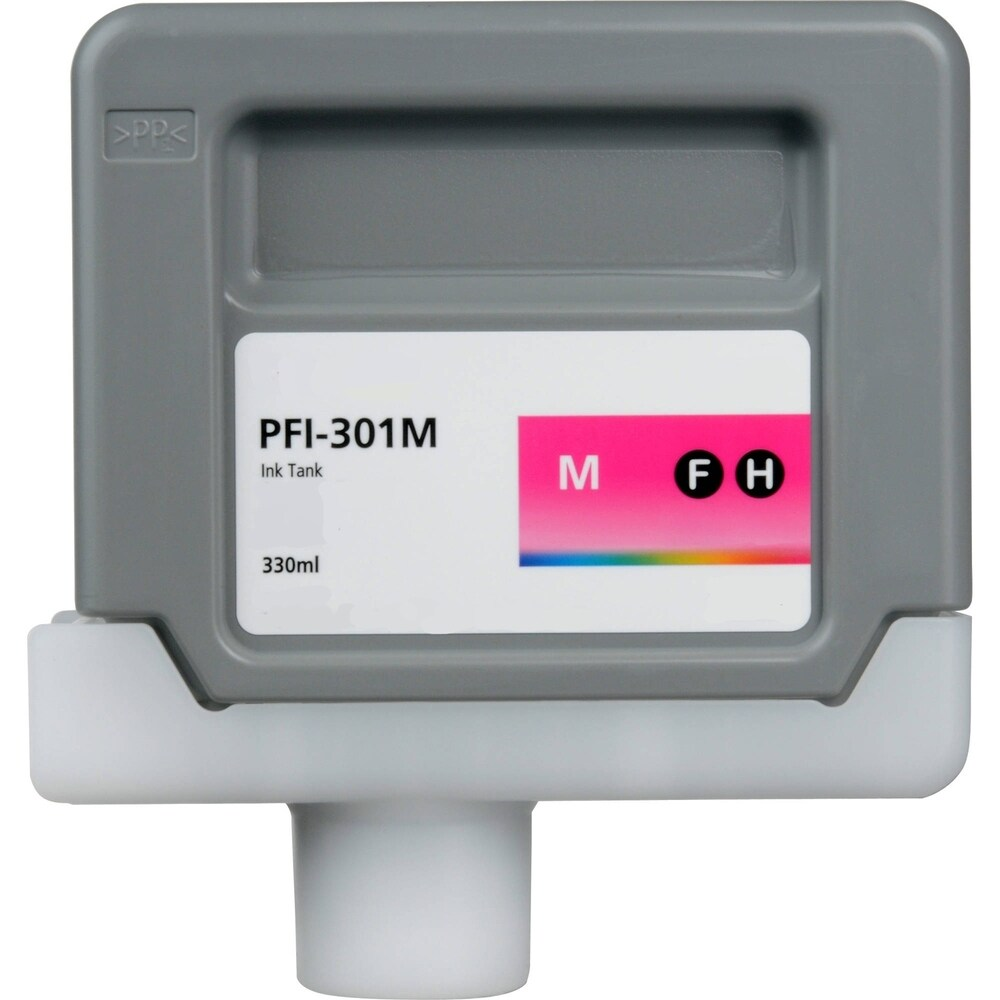 1PK Compatible PFI-301M Ink Cartridge for Canon ImagePROGRAF iPF8000 8000S 9000 9000S (Pack of 1) (Magenta)