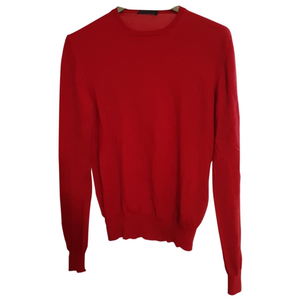 Prada \N Red Wool Knitwear & Sweatshirts for Men 46 IT