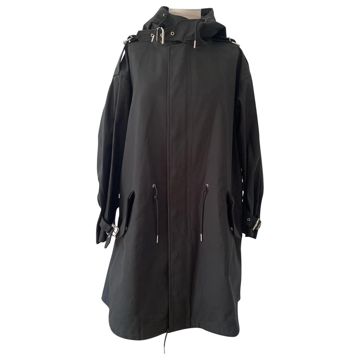 Celine \N Black Cotton coat for Women 38 FR