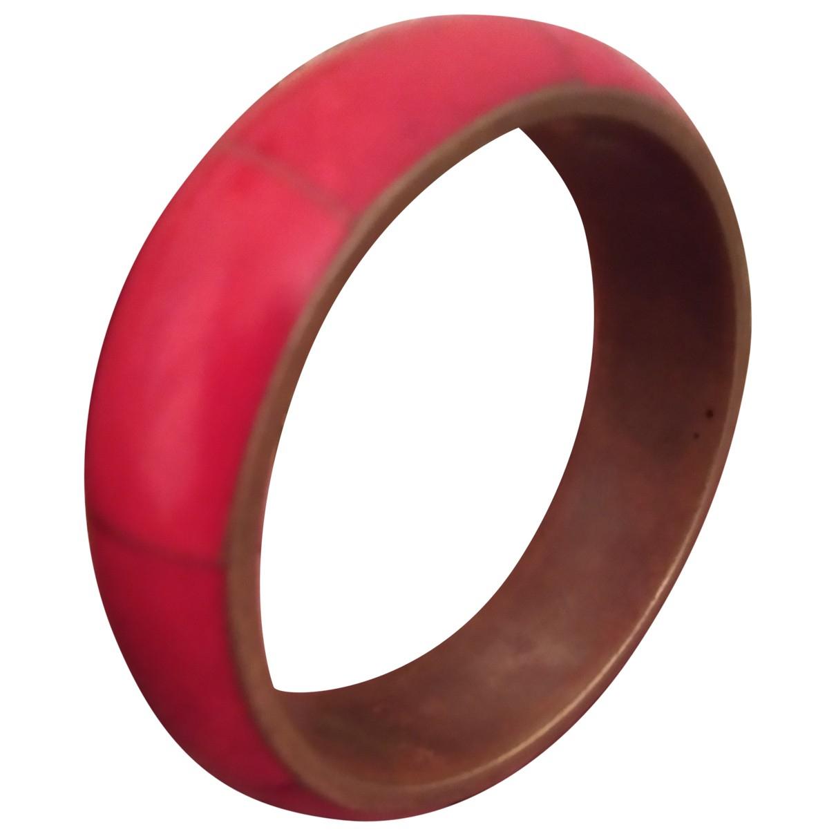 - Bracelet Motifs Ethniques pour femme en metal - rouge