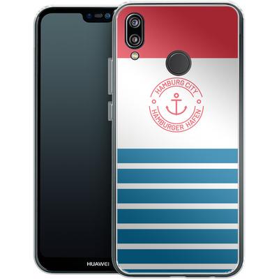 Huawei P20 Lite Silikon Handyhuelle - Hamburger Hafen von caseable Designs