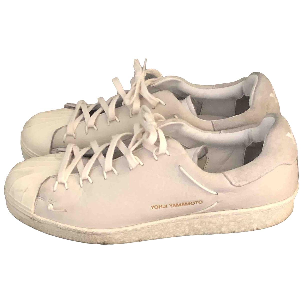 Y-3 - Baskets   pour homme en caoutchouc - blanc