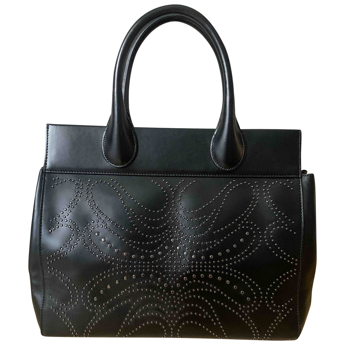 Alaïa \N Black Leather handbag for Women \N