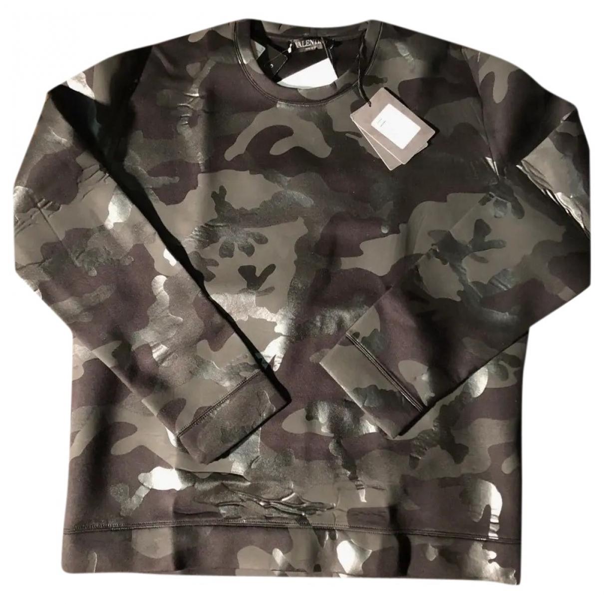 Valentino Garavani \N Pullover.Westen.Sweatshirts  in  Schwarz Viskose