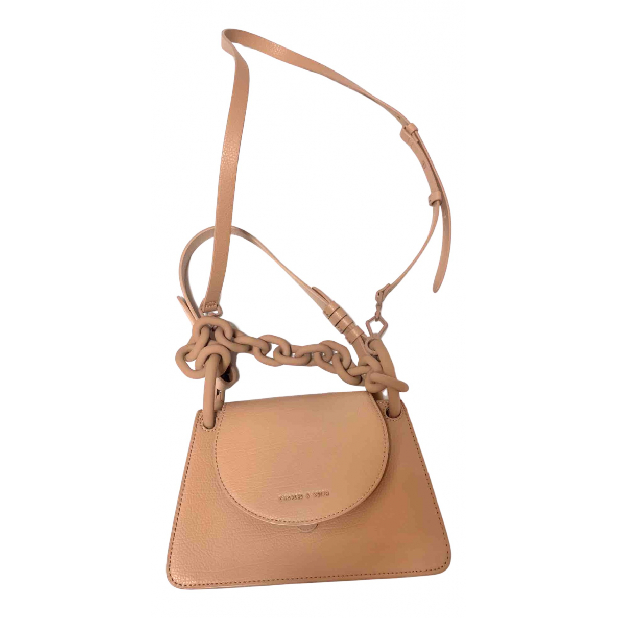 Charles & Keith \N Clutch in  Rosa Polyester