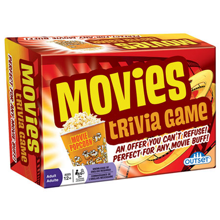 Outset Media Movies Trivia Game, One Size , Multiple Colors
