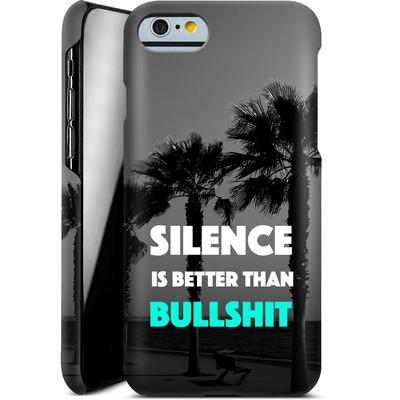 Apple iPhone 6s Smartphone Huelle - Silence Is Better von Statements