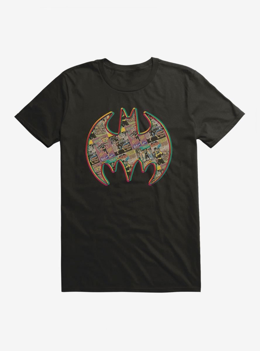 DC Comics Batman Comic Strip Collage Logo T-Shirt