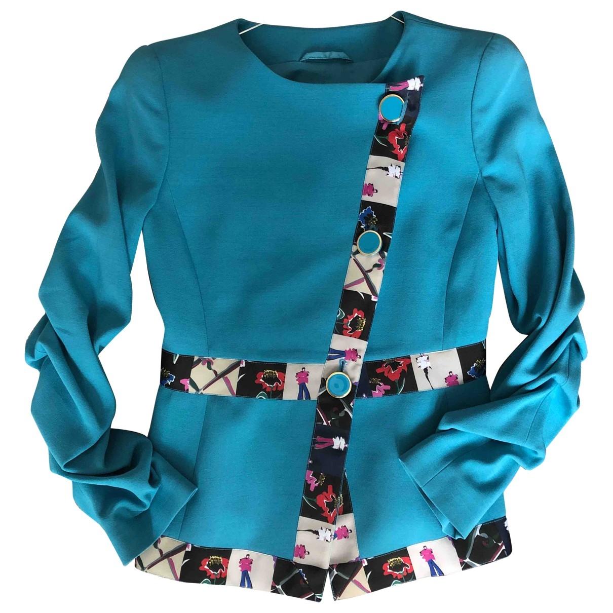 Emporio Armani - Veste   pour femme - turquoise
